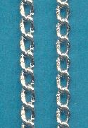 7x4mm Silver Colored Aluminum Curb Chain