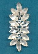 2 3/4'' Frosted/Crystal Leaf Brooch