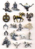 Mixed Western/SW/Horse Related Charm/Pen