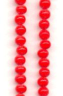 5mm Vintage Japanese Cherry Red Beads