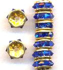 7mm GP Mixed Sapphire RS Rondelles