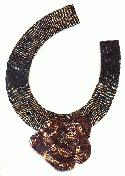 9 1/4'' by 7 3/4'' Bronze Beaded Applique