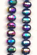 11x9mm Montana/Vitrail Faceted Beads
