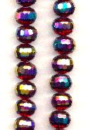 11x9mm Siam/Vitrail Faceted Glass Beads