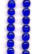 10mm Sapphire Baroque Glass Beads