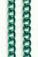 19'' 8mm Green Anodized Steel Chain
