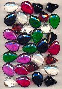 Large Mixed Acrylic Faceted Drops