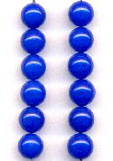 8mm Royal Blue Glass Beads