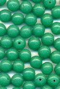 8mm Jade Glass 1/2 Drilled Beads