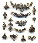 Mixed Antique Brass Charms and Connector