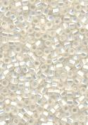 11/0 Clear Frosted Silver Line Seed Bead