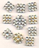 Mixed MC Crystal Rhinestone Buttons