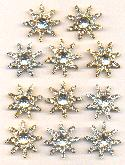 Mixed Crystal Rhinestone Star Buttons