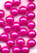 8mm Hot Pink No Hole Pearl Beads