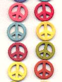 Strand of 25mm Multi-Color Peace Beads