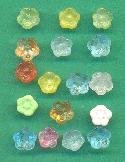 Mixed Lot Vintage Glass Flower Beads