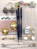 Mixed Lot Rings, Hair Jewelry & Clips
