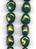 15x13mm Olivine Baroque Glass Pearls