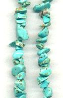 14'' Strand Turquoise Howlite Chip Beads