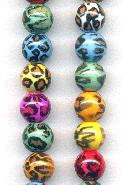 10mm Multi-Color Leopard Acrylic Beads
