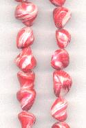 16'' Strand of Red/Coral Dyed MOP Beads