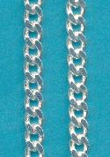 6mm Wide Silver Plated Curb Chain