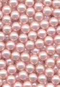 4mm Lt Pink Acrylic Pearl No Hole Bead