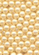 4mm Cream Pearl No-Hole Beads