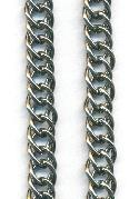 11.4x7.5mm Gunmetal DBL Curb Link Chain