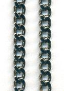 8.7x6.4mm Gunmetal Curb Link Chain