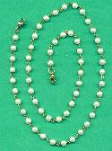 24'' Pearl Beaded Mask-Chain Necklace