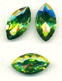 32x17mm Peridot Navette RS