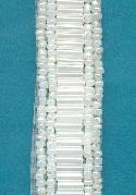 15mm White AB Seed Bead and Bugle Bead