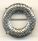 1 1/4'' SP Wreath Prong and Screen Brooch