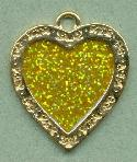 40x37mm GP Yellow Glitter Heart