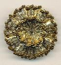 41mm Filigree Brooch/Bronze Seed Beads