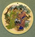 80mm Asian Scene Pendant (1)