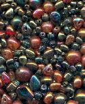 Mixed Metallic AB Glass Beads