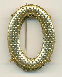 44x32mm Gold Oval Screen Brooch