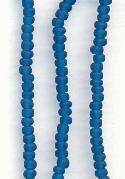 2mm Frosted Montana Sapphire Seed Beads