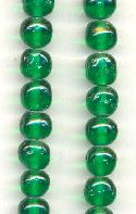 6mm Baroque Emerald Glass Beads
