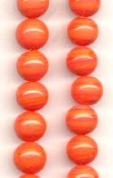 10mm Light Coral Glass Beads