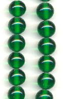 12mm Emerald Pressed Glass Beads