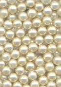 4mm No Hole Light Off White Pearl Beads