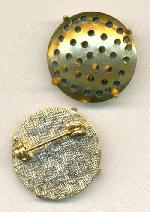 7/8'' Brass/GP Prong and Screen Brooch