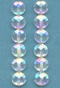8mm Clear AB Round Faceted Acrylic Bead