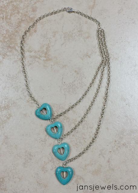 Cascading Hearts Necklace