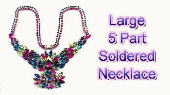 Jewelry making videos how to solder jewelry jans jewelry supplies how to join together a large five part soldered necklace aloadofball Image collections