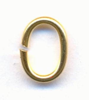 9mm by 6mm Oval Brass Jump Rings
