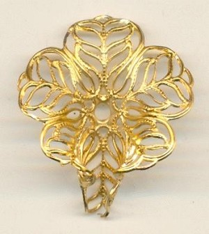 1 1/8'' Cupped Floral Filigree